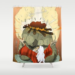 Elijah Proves the One True God Shower Curtain