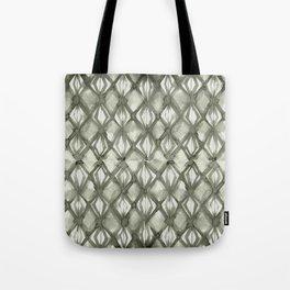 Braided Diamond Simply Green Tea on Lunar Gray Tote Bag