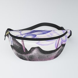 Pink Gray Lavender Sacred Egyptian Bean Temple of Flora Fanny Pack