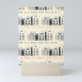 Tin Plate Houses Mini Art Print