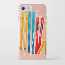 Colorful Ski Illustration and Pattern no 2 iPhone Case