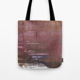 Brown maroon squares Tote Bag