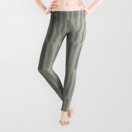 Gray brush strokes stripe seamless pattern Leggings