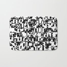 Black & White Bath Mat