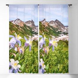 HIGH COUNTRY WILDFLOWERS COLORADO COLUMBINE MOUNTAIN FLOWER Blackout Curtain