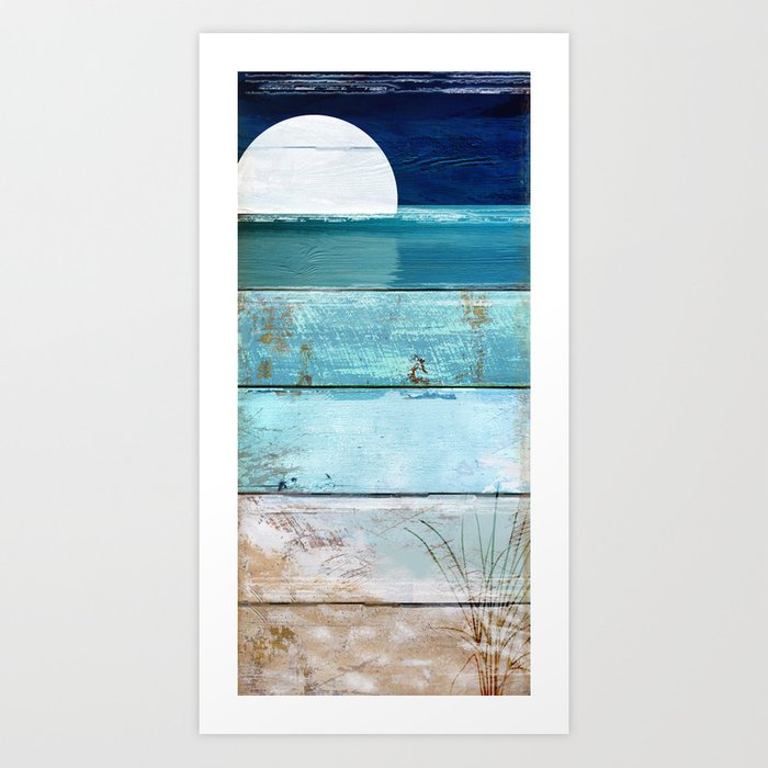 Beach Moonrise Kunstdrucke