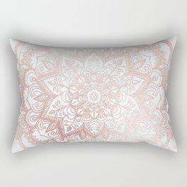 Rose Gold Mandala Star Rectangular Pillow