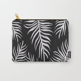 Fern Pattern Black And White Carry-All Pouch