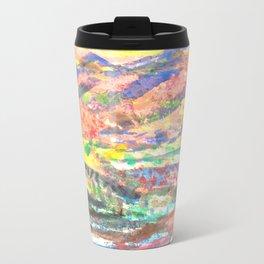 blurred Metal Travel Mug