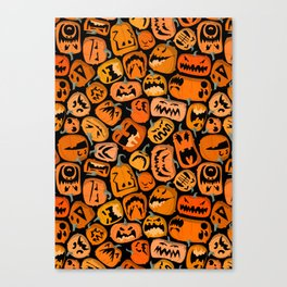 Pumpkin Brawl. Canvas Print