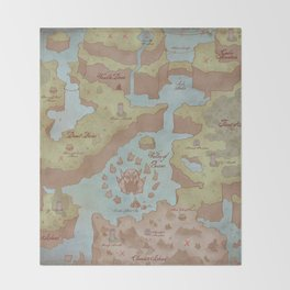 Super Mario World Map (Vintage Style) Throw Blanket