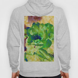 Yellow Rose Abstract Hoody