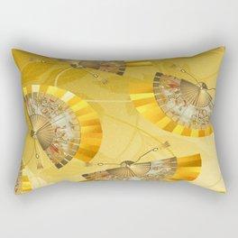 Fächer - fan Rectangular Pillow