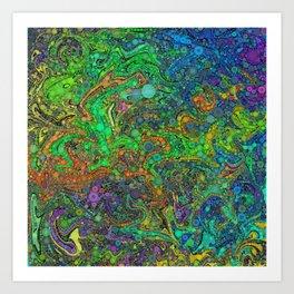 Abstract Art Percolator Frax Painting Rainbow Colors Gift Art Print