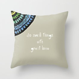 Mother Theresa with Surjal Mandala Throw Pillow