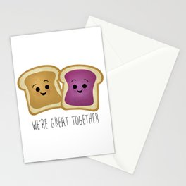 We're Great Together - Peanut Butter & Jelly Stationery Cards