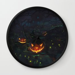 Jacks & Witch Cats Wall Clock