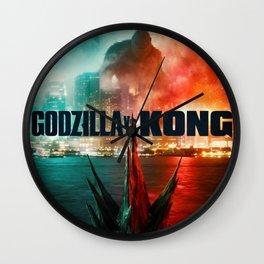 New Art rePrint of 2021 Promo Poster Godzilla vs. King Kong collectible Movie Wall Clock