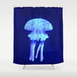 Blue jellyfish Shower Curtain