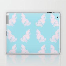 Grapefruit Cat - Lighten on Blue Laptop & iPad Skin