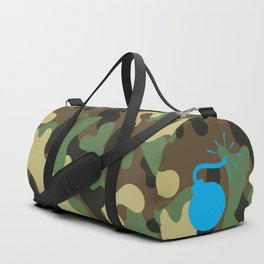CAMO & LIGHT BLUE BOMB DIGGITY Duffle Bag