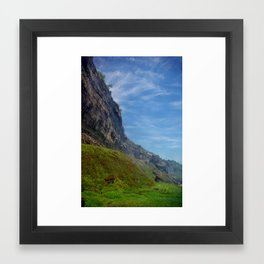 Misty Cliffs Framed Art Print