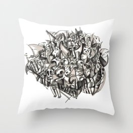 Teddysytem 02 Throw Pillow
