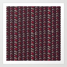 Lovely Dark Red Pattern Art Print