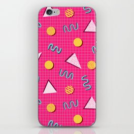 Geometric Memphis in Pink iPhone Skin