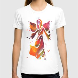 Colorful Angel Acrylic Abstract Painting by Saribelle Rodriguez T-shirt