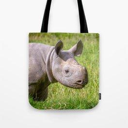 Baby Black Rhino. Tote Bag