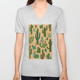 The Snake, The Cactus and The Desert Unisex V-Neck