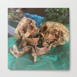 Catacomb Culture - Human Skulls Metal Print