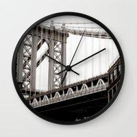 brooklyn Wall Clocks featuring Brooklyn by Miuk