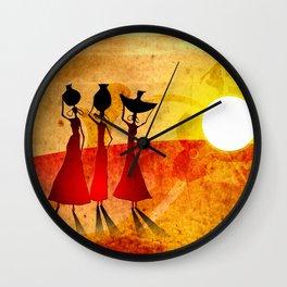 Africa retro vintage style design illustration Wall Clock