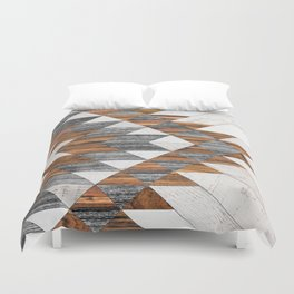 Urban Tribal Pattern 12 - Aztec - Wood Duvet Cover