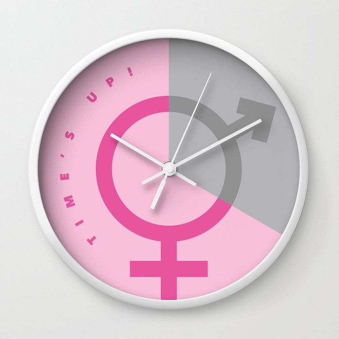 Times Up - Pink Wall Clock