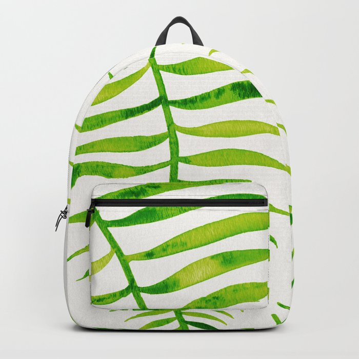 Lime Palm Leaf Backpack