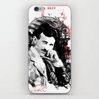 tesla iPhone & iPod Skins featuring Nikola Tesla by viva la revolucion