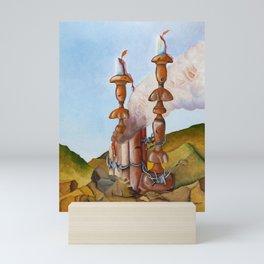 Five Chimneys (Oil) Mini Art Print
