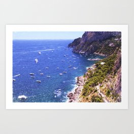 Mediterranean Of Boats Art Print