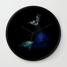 Proud Peacock Wall Clock