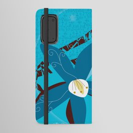 Blue Saucer Magnolia Android Wallet Case
