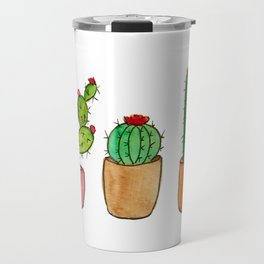 Three Little Cacti Travel Mug
