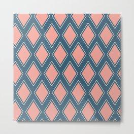 Spring Patio Collection - Delicate Diamond Metal Print