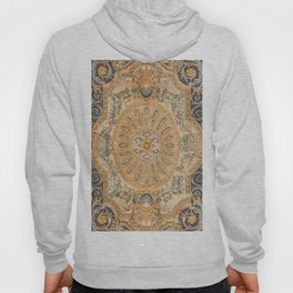 Louvre Fame Carpet // 16th Century Sunflower Yellow Blue Gold Colorful Ornate Accent Rug Pattern Hoody