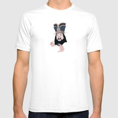 trouble White Mens Fitted Tee SMALL