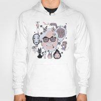 miyazaki Hoodies featuring Miyazaki Tribute by DarkChoocoolat