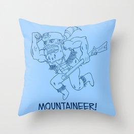 Mountaineer! (blue) Throw Pillow