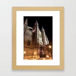 La Seu at night - Mallorca Framed Art Print